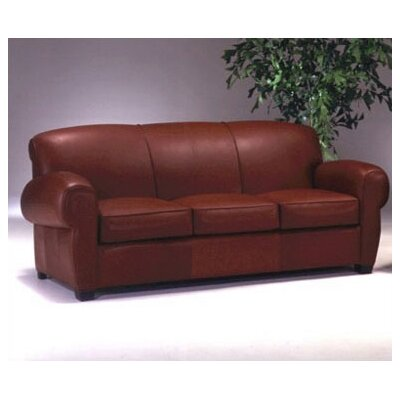 Omnia Furniture Lyon Club Leather Sofa
