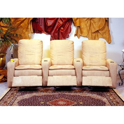Omnia Furniture Broadway Home Theater Seating (Row of 3)