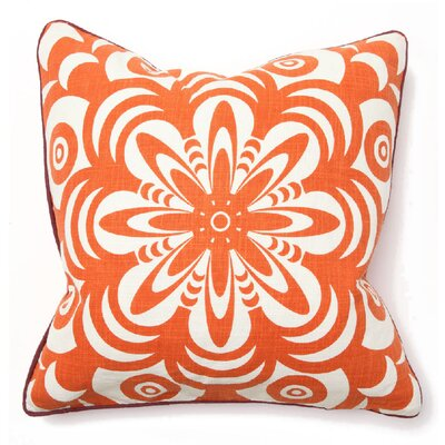 Villa Home Bohemian Chic Flower Burst Pillow in Orange