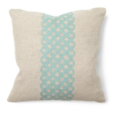 Villa Home Illusion Pillow in Link Turquoise Embroidered