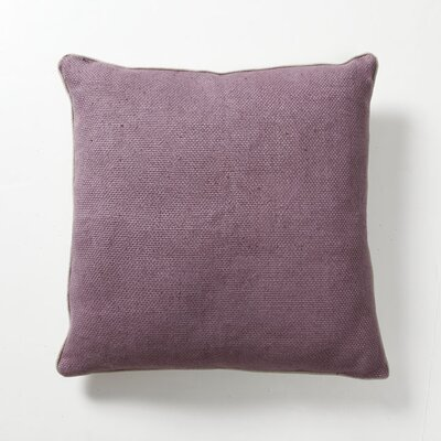 Villa Home Illusion Textured Willow Basket Weave Pillow in Plum