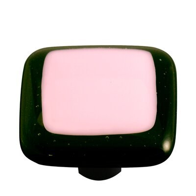 Borders Cabinet Knob in Pink with Black Border