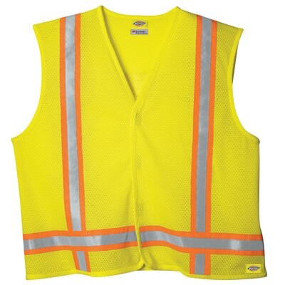 High Visibility Yellow ANSI Class 1 Tri-Color Safety Vest