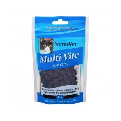 Nutri Vet Nutritionals Chicken and Tuna Flavored Multi Vite Soft Chews for Cats