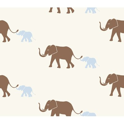 Tempaper Tusk Temporary Wallpaper in Morning Blue