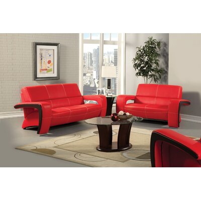 Hokku Designs Nova Leatherette Loveseat