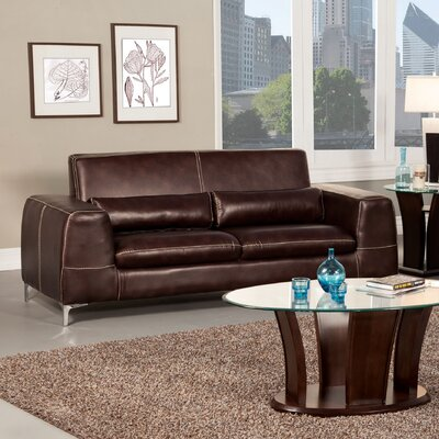 Hokku Designs Gordon Leatherette Sofa