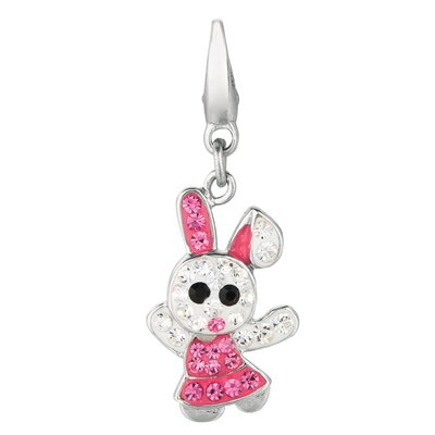 Crystal Bunny Rabbit Charm with Swarovski Elements