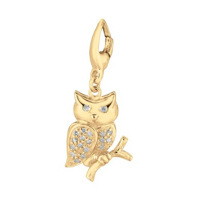 EZ Charms Diamond Owl Charm