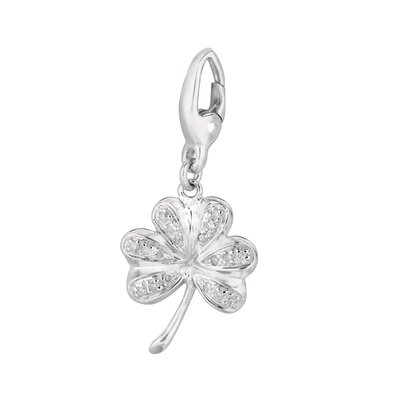 EZ Charms Diamond Shamrock Charm