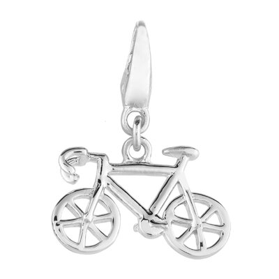 EZ Charms Sterling Silver Bicycle Charm