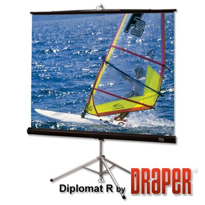 "Draper Matte White Diplomat / R Portable Screen - 100"" diagonal NTSC Format"
