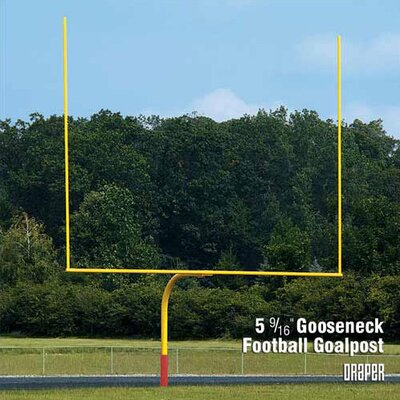 "Draper 5-9/16"" Gooseneck Football Goalposts"