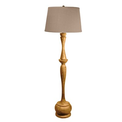 Lamp Works Wood Acacia Urn Floor Lamp