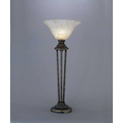 Toltec Lighting Italian Marble Glass Shade Table Lamp