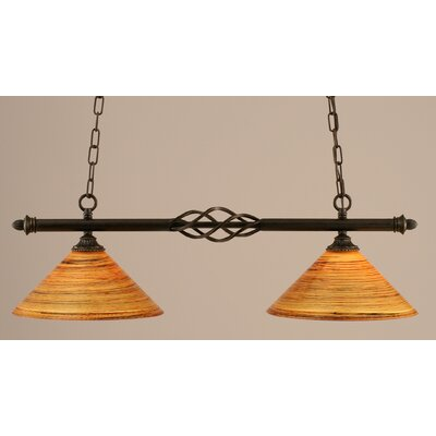 Toltec Lighting Eleganté 2 Light Kitchen Island Pendant