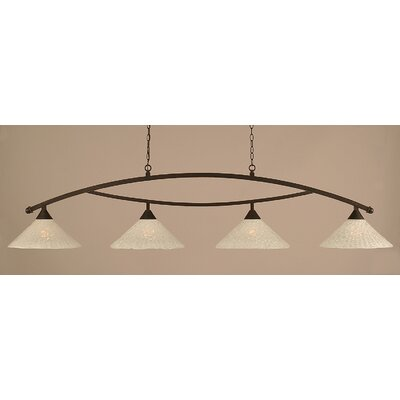 Toltec Lighting Bow 4 Light Kitchen Island Pendant