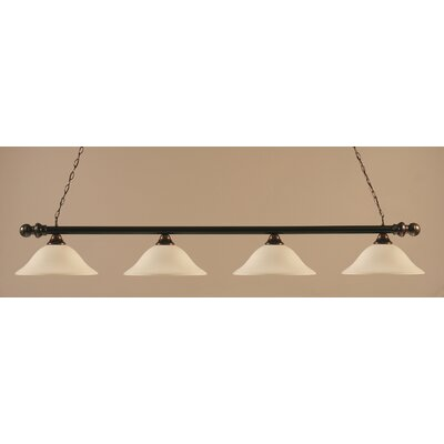Toltec Lighting Round 4 Light Billiard Pendant