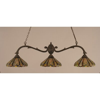 Toltec Lighting Octopus 3 Light Billiard Pendant