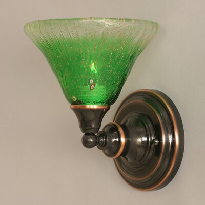 Toltec Lighting 1 Light Wall Sconce with Glass Shade