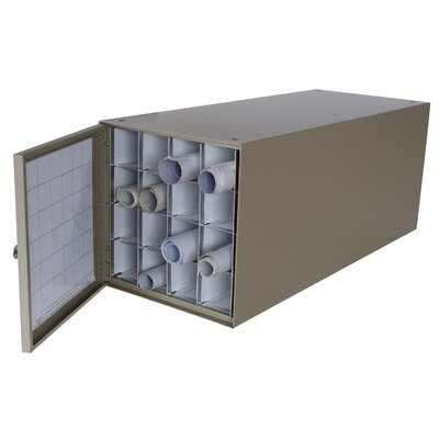Adir Corp Stackable Steel Roll File with 16 Compartments for Blueprints