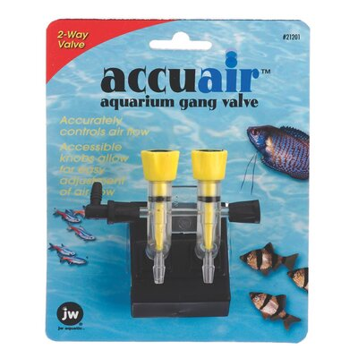 J.W. Pet Company Accuair 2-Way Aquarium Gang Valve