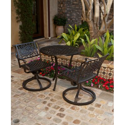 AIC Garden & Casual Charleston 3 Piece Bistro Set