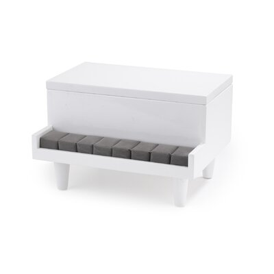 Umbra Piano Jewelry Box in White