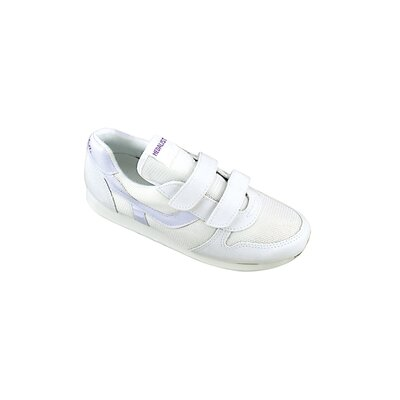 Womens Easy Closing Running Shoe in White