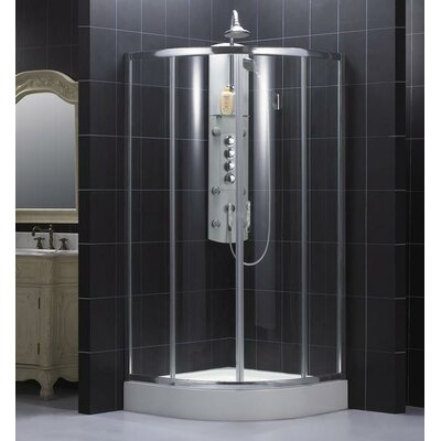 Dreamline Sector Center Sliding Door Shower Enclosure