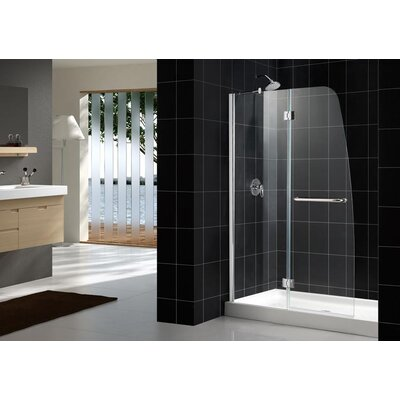 Dreamline Aqua Hinged Shower Door and Amazon Base Kit with Left Drain