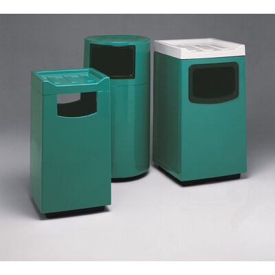 Witt Fiberglass Series 36 Gallon Square Food Court Receptacle