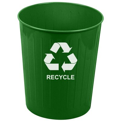 Witt 26 Quart Medium Round Recycling Wastebasket