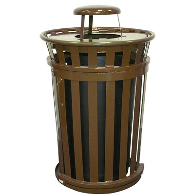 Witt Oakley Collection 36 Gallon Trash Receptacle with Slide Gate & Rain Cap