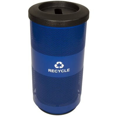 Witt 20 Gallon Perforated Recycling Receptacle with Optional Round or Slot Opening