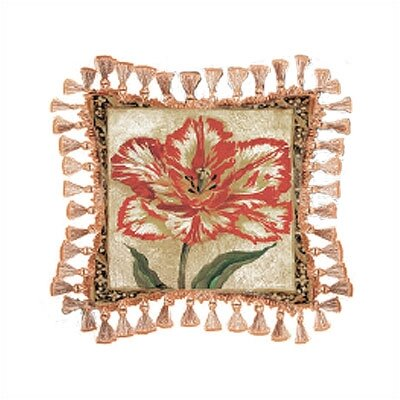 Fine Art Tapestries Tulip Unveiled II Pillow - Liz Jardine