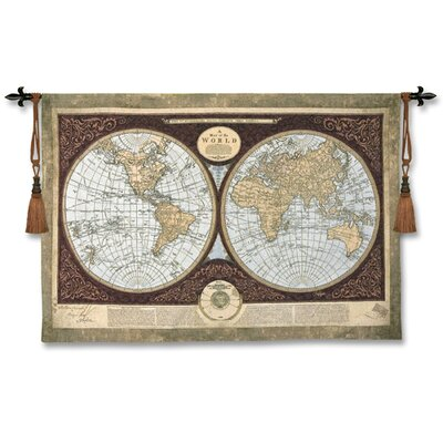 Fine Art Tapestries Map of The World - Elizabeth, Mary