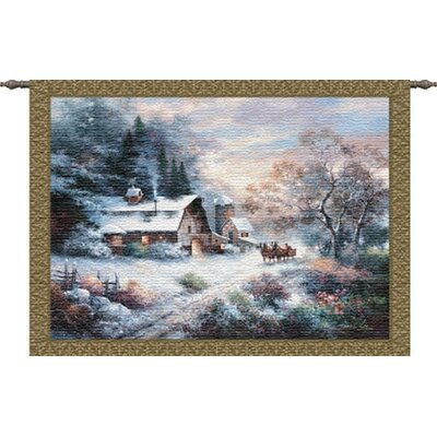 Pure Country Weavers Snowy Evening Tapestry