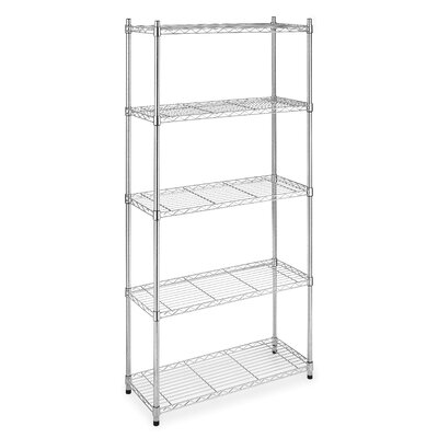 Five Tier Supreme Shelving in Chrome