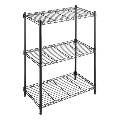Whitmor, Inc Three Tier Supreme Small Shelving in Black