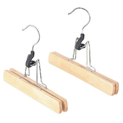 Natural Wood Slack Hanger (Set of 2)