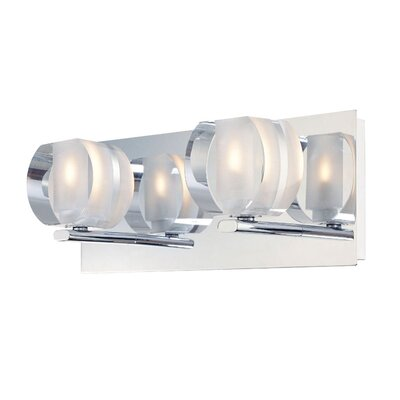 Alico Circo Two Light Bath Vanity in Chrome