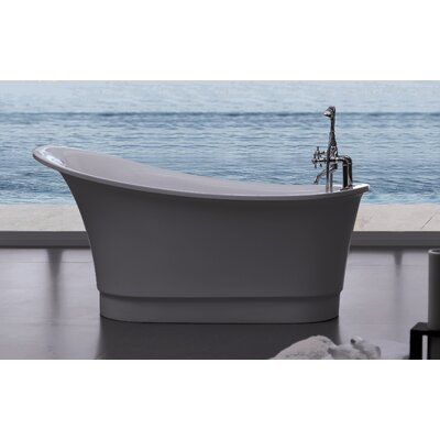 "Aquatica PureScape 63"" x 32"" Freestanding Acrylic Slipper Tub"