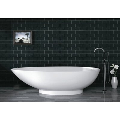 "Aquatica PureScape 71"" x 36"" Freestanding AquaStone Bathtub"