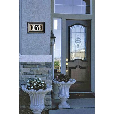 Qualarc Edgewood Class Lighted Address Plaque Kit