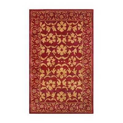 Heirloom Red Gold Floral Area Rug Wayfair