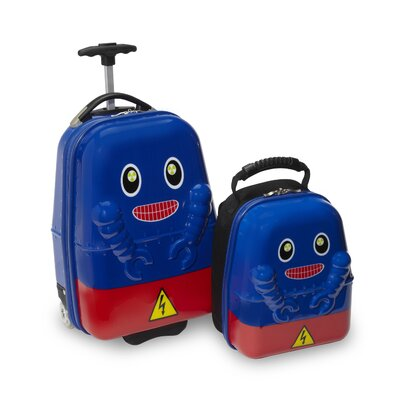 TrendyKid 2 Piece Rusty Robot Children's Luggage Set