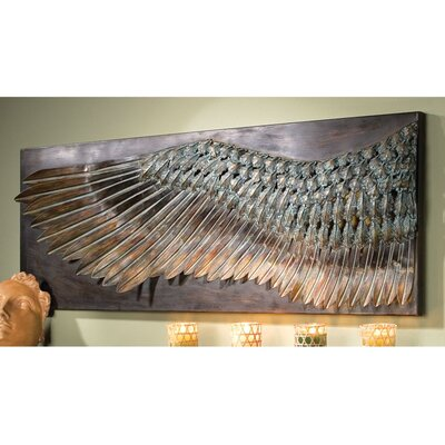 Design Toscano Wing of Icarus Sculptural Metal Wall Frieze