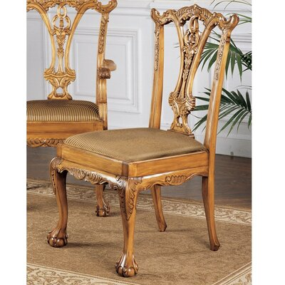 Design Toscano English Chippendale Fabric Side Chair