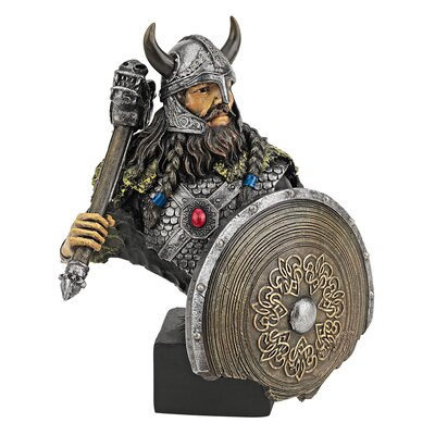 Viking Warrior with Thor's Thunder Hammer Statue